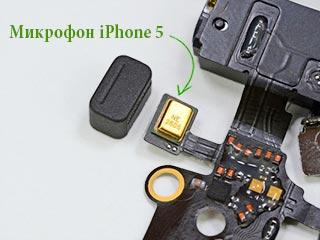 Где микрофон у iphone s